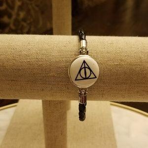 ⚡Harry Potter Deathly Hallows SnapLeather Bracelet